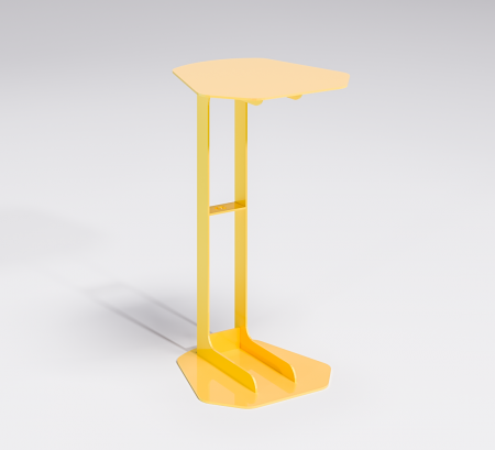 Linear Laptop Table - Yellow